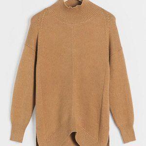 Anthropologie Crystal Tunic Brown Tan Sweater S